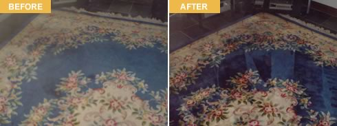 RK Specialist Cleaners before and after cleaning